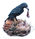 Raven with Eyeball - Free Shipping