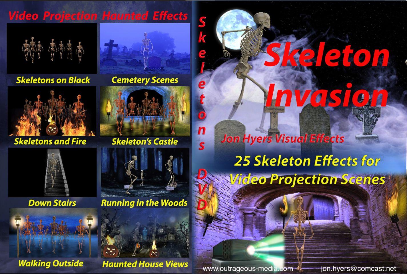 skeleton invasion projection dvd