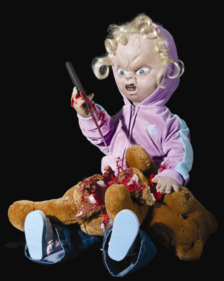bad doll halloween animatronic free shipping
